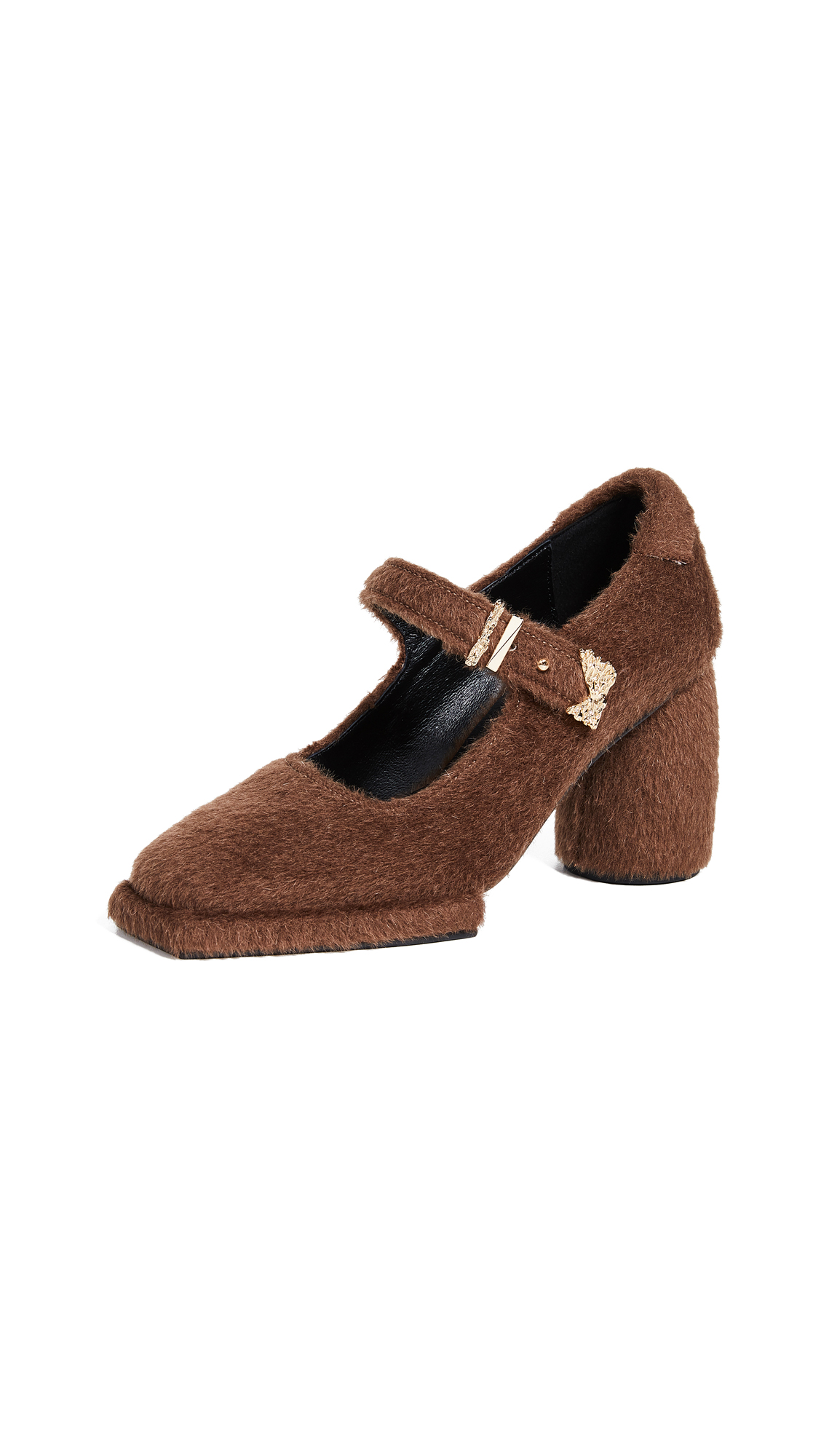 Reike Nen Square Mary Jane Pumps - Brown