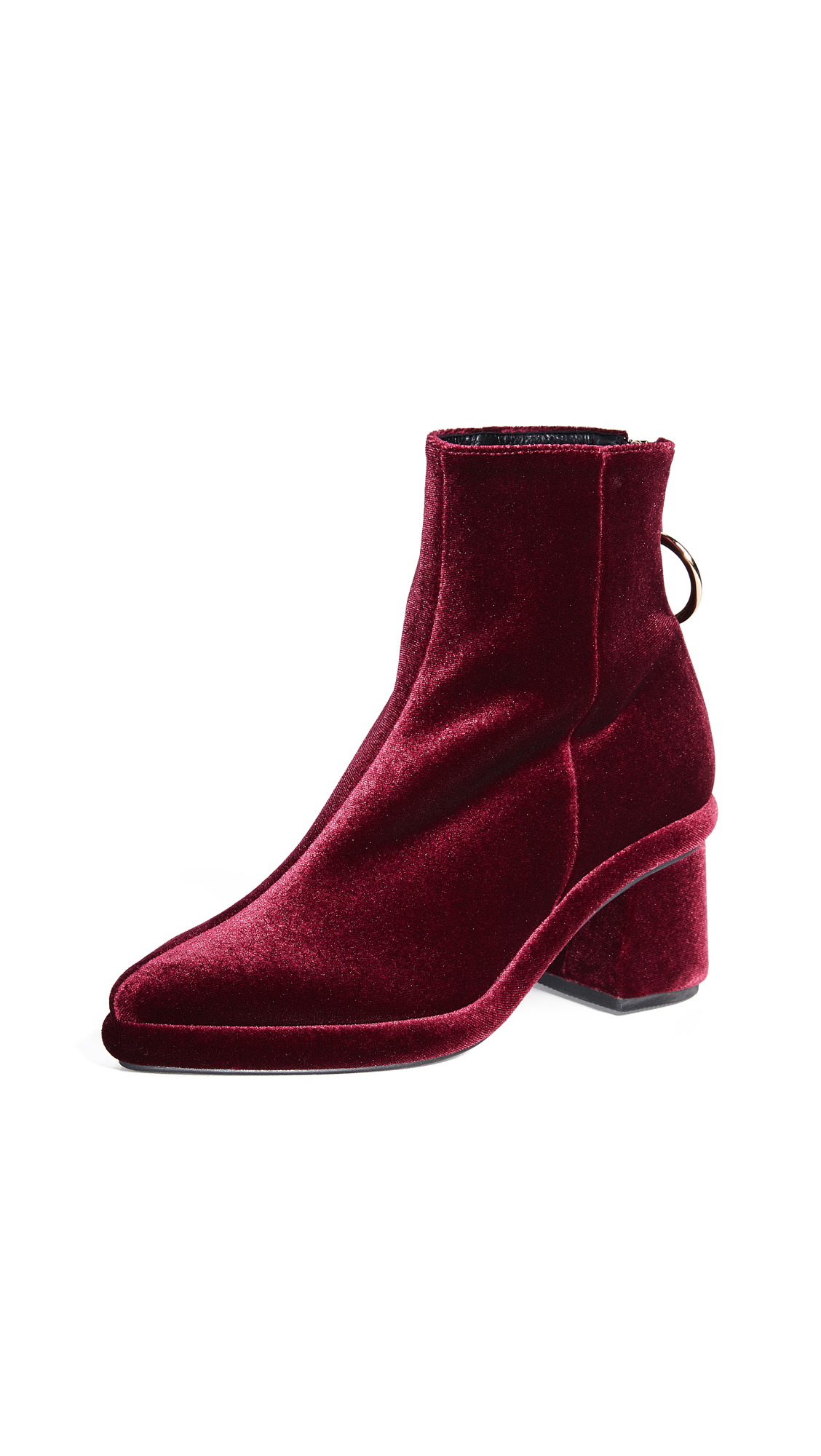 Reike Nen Ring Slim Booties - Burgundy