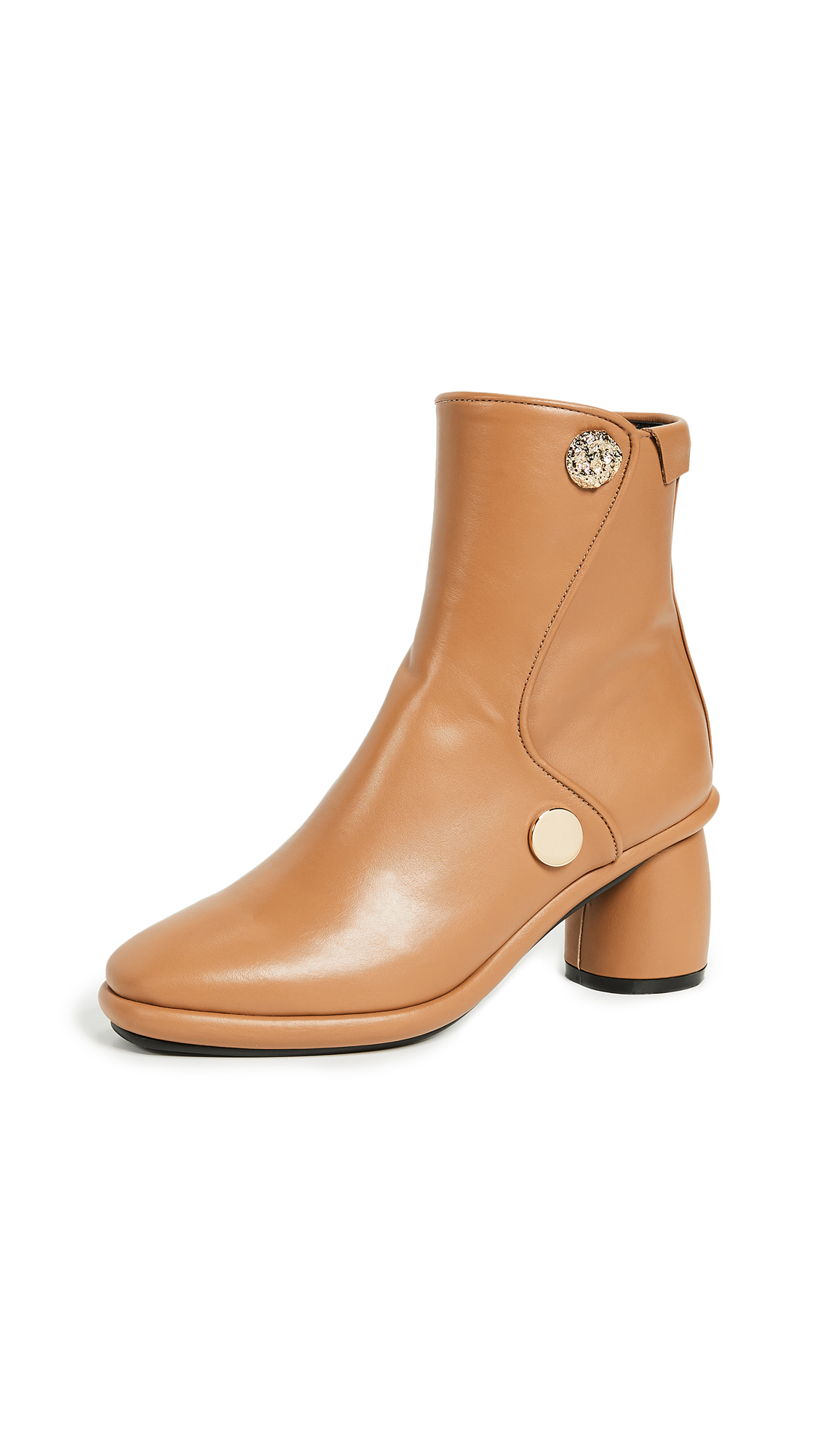 Reike Nen Curved Middle Ankle Booties - Camel