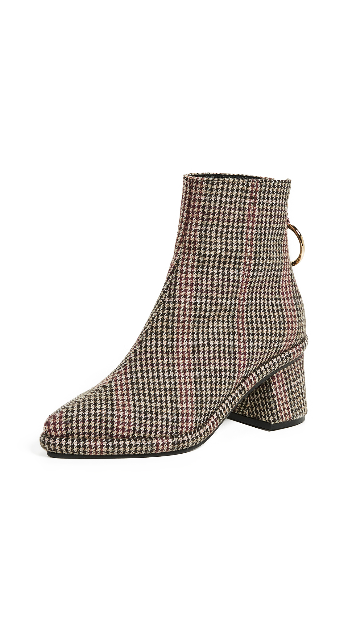 Reike Nen Ring Slim Booties In Check