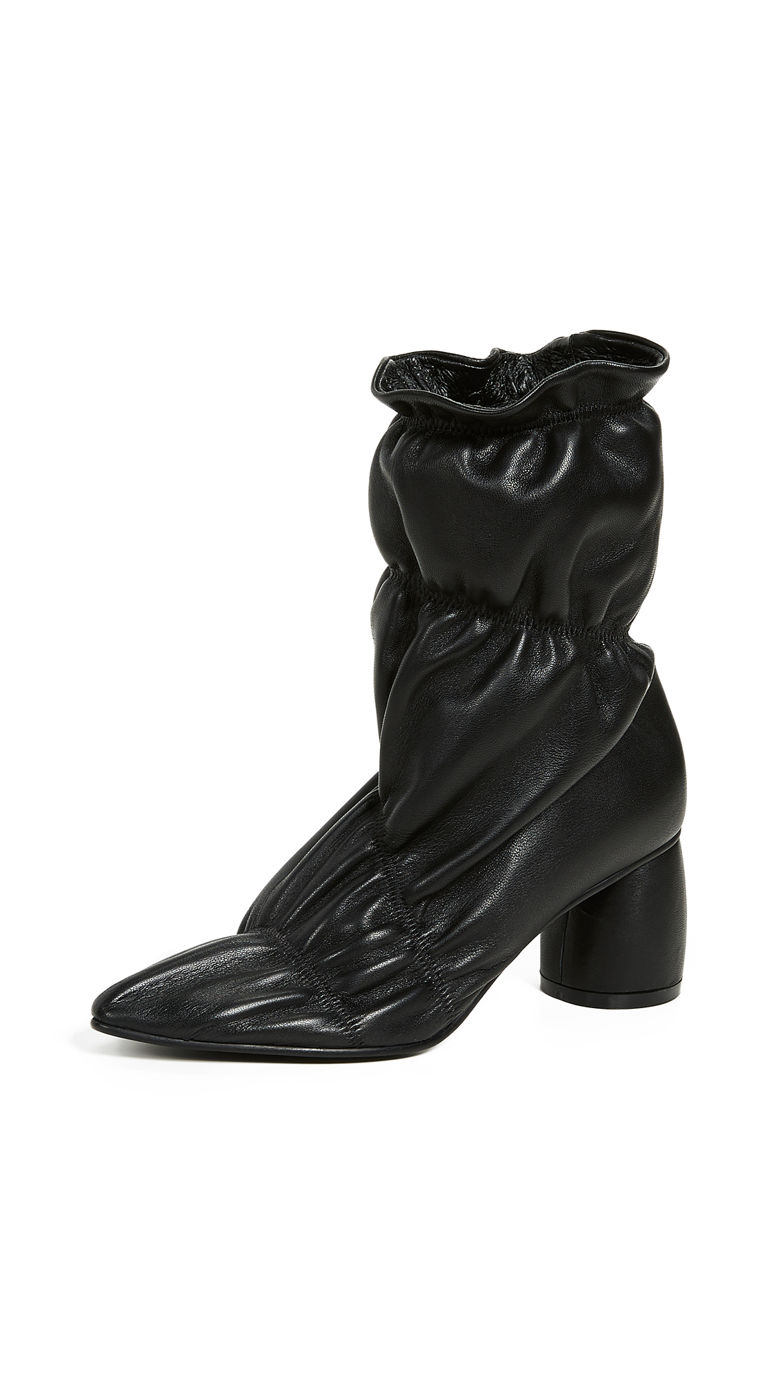 Black Parachute 60 Leather Ankle Boots