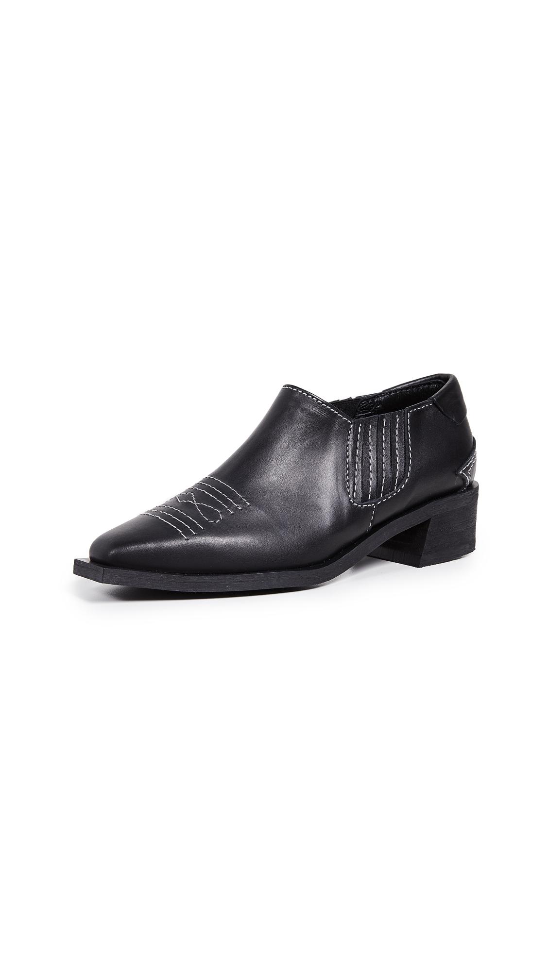 Reike Nen Western Shootie Boots - Black
