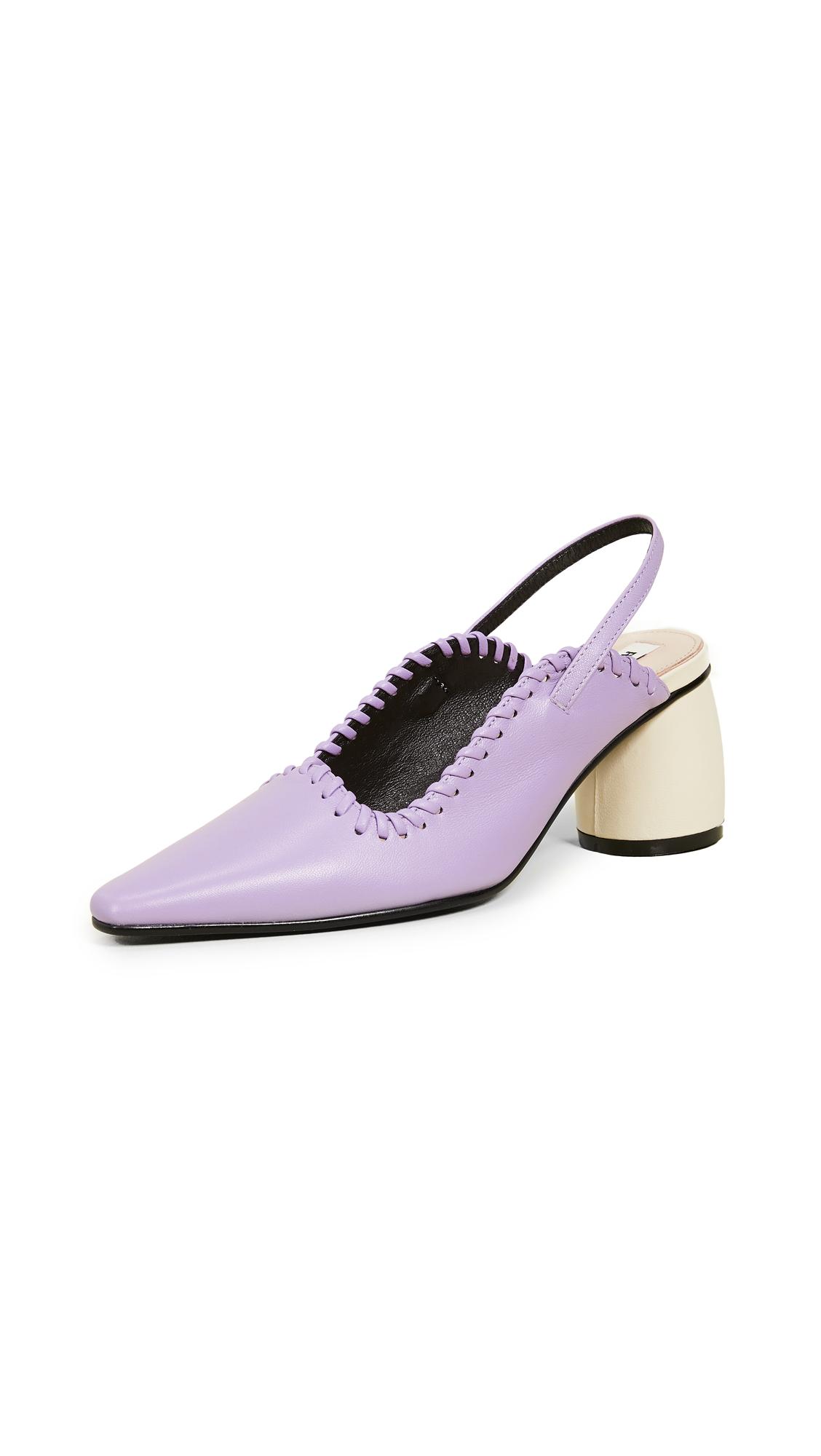 Reike Nen Curved Middle Slingback Pumps - Purple/Ivory