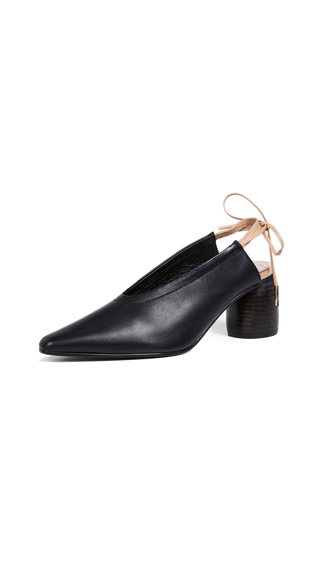 Reike Nen Ribbon Slingback Pumps - Black