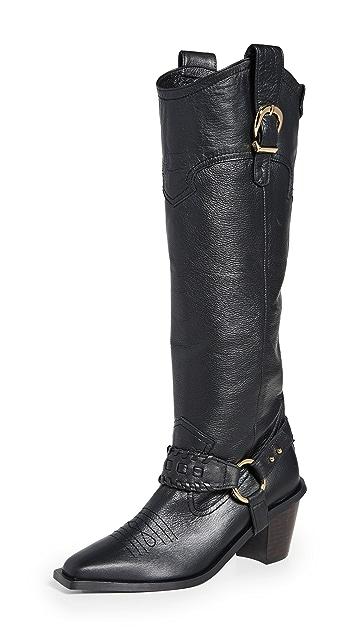 Reike Nen Western Knee High Boots