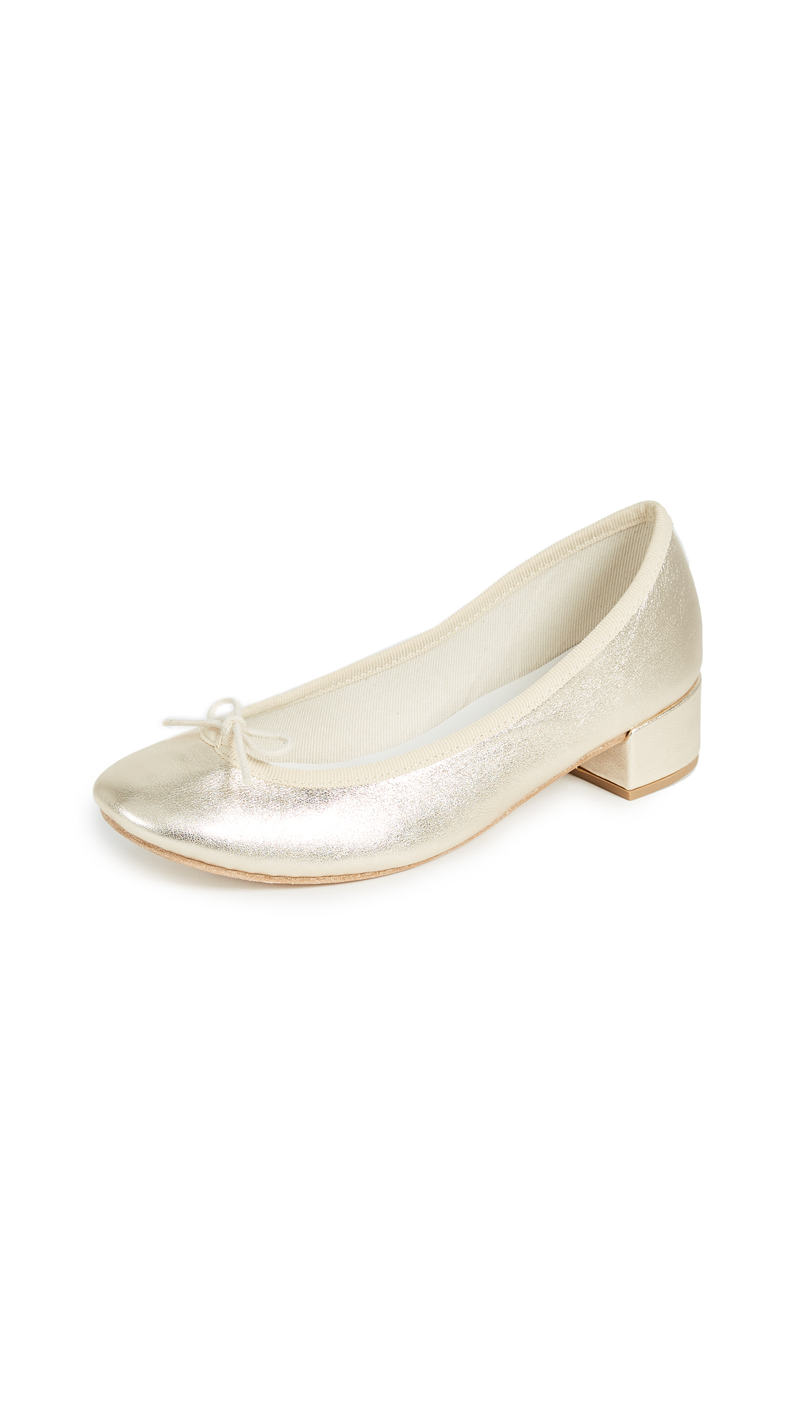 Repetto Camille Ballerina Heels - Light Gold