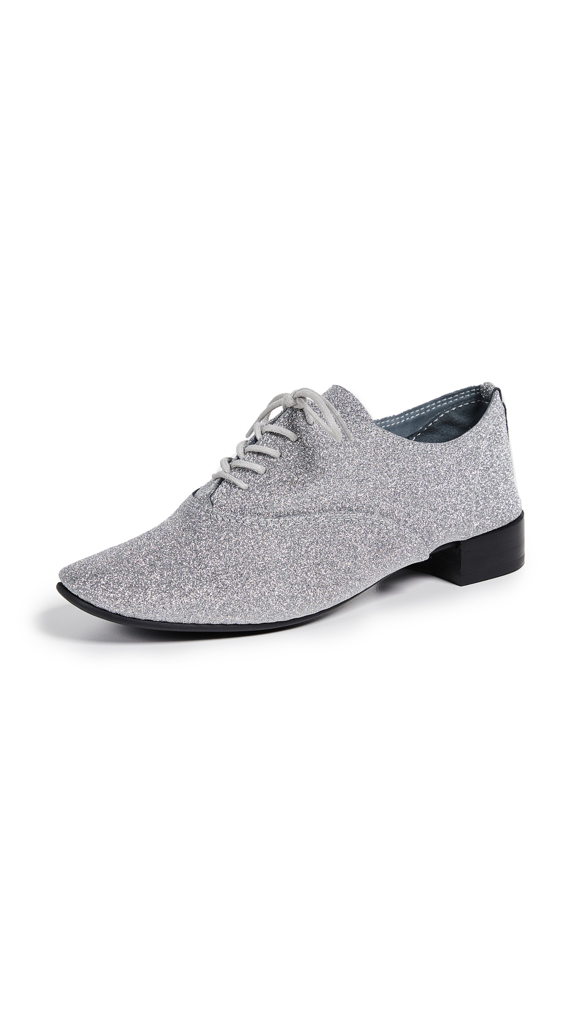 Black Argent Charlotte Oxford Shoes, Silver/Glitter