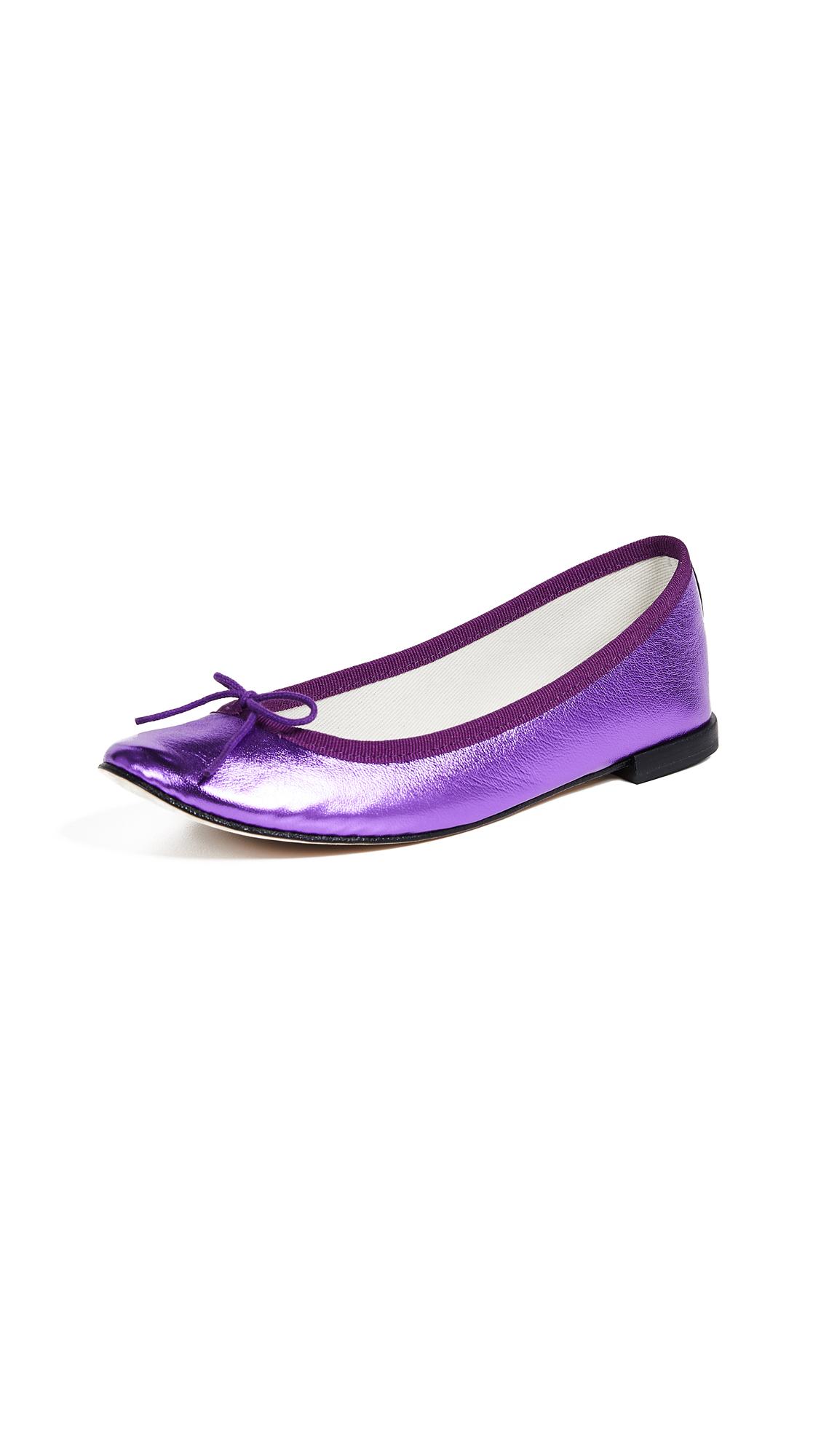 Repetto Cendrillon Metallic Ballerinas - Purple