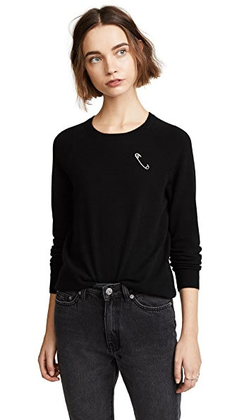 Replica Los Angeles Safety Pin Sweater In Black/Silver