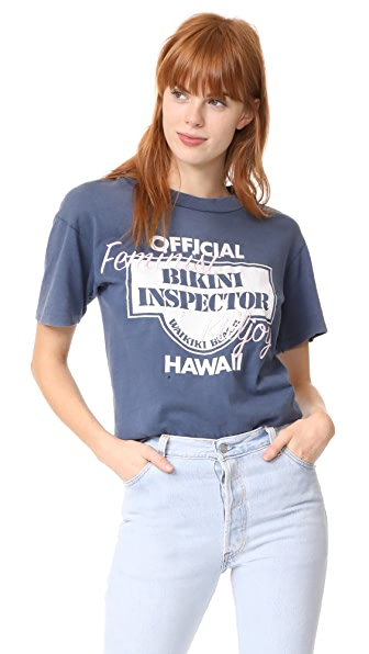 Retouched-Vintage Official Bikini Inspector Hawaii Tee