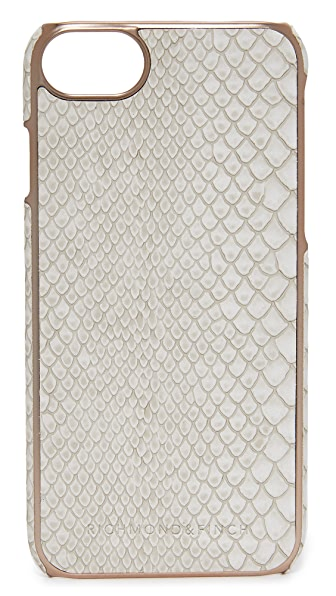 Richmond & Finch Framed Rose Reptile iPhone 7 Case - White Reptile/Rose Gold