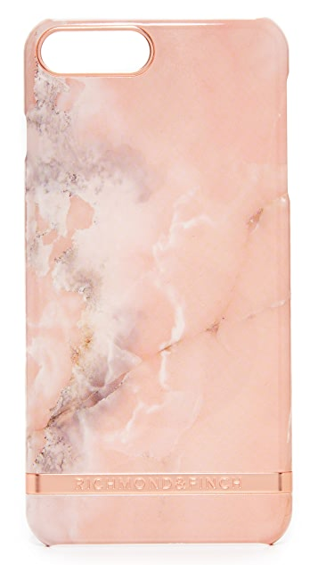 Richmond & Finch Pink Marble iPhone 7 Plus Case
