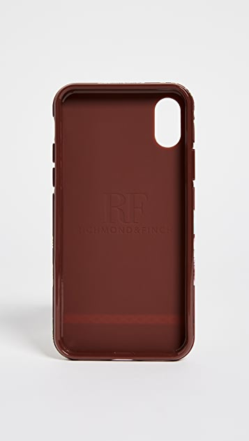 Richmond & Finch Red Floral IPhone X Case