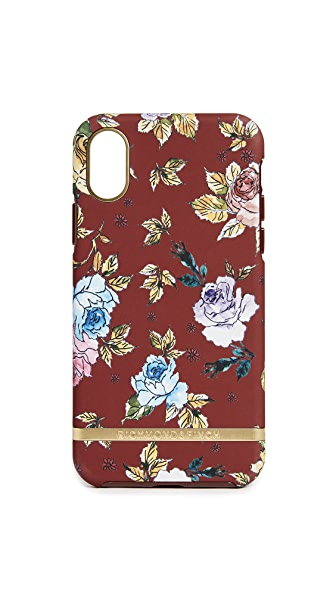 Richmond & Finch Red Floral IPhone X Case In Red Floral