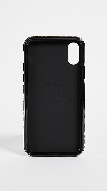 Richmond & Finch Black Floral iPhone X Case