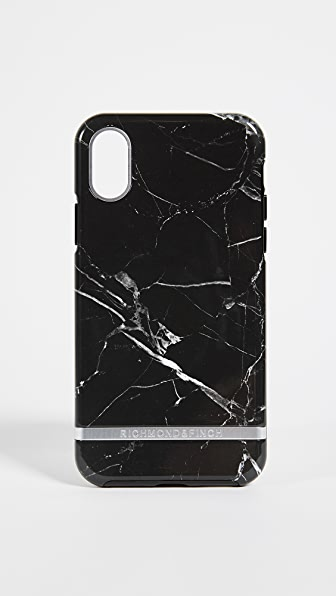 RICHMOND & FINCH Black Marble Iphone X Case in Black Marble/Silver