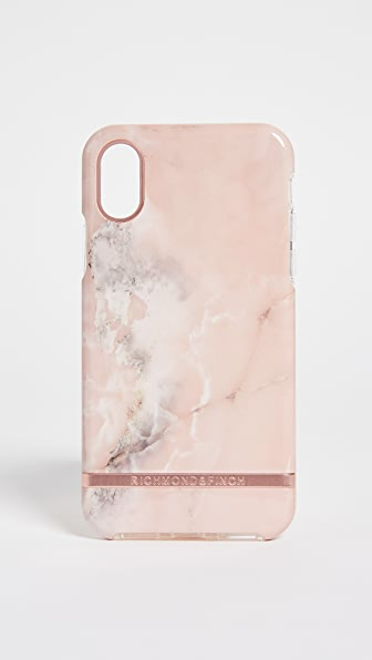 RICHMOND & FINCH Pink Marble Iphone X Case in Pink/Rose Gold