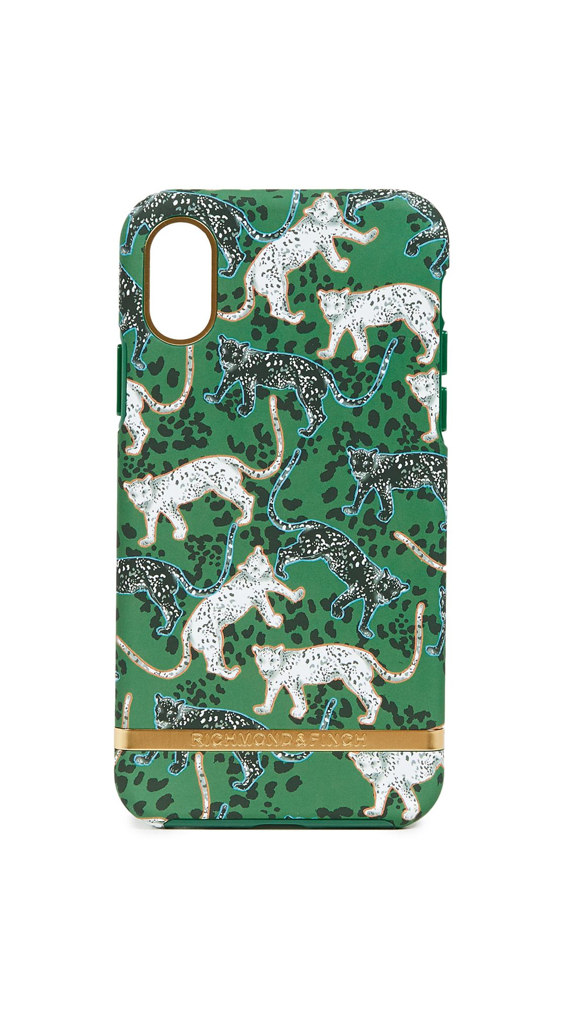 RICHMOND & FINCH Green Leopard Iphone Xs Case