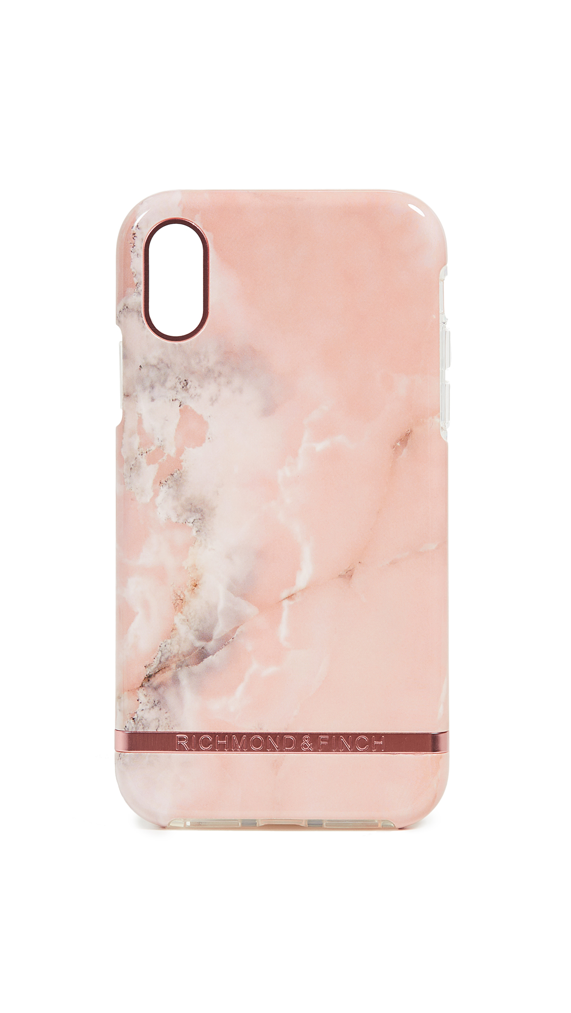 RICHMOND & FINCH Pink Marble Iphone Xr Case in Pink/Rose Gold