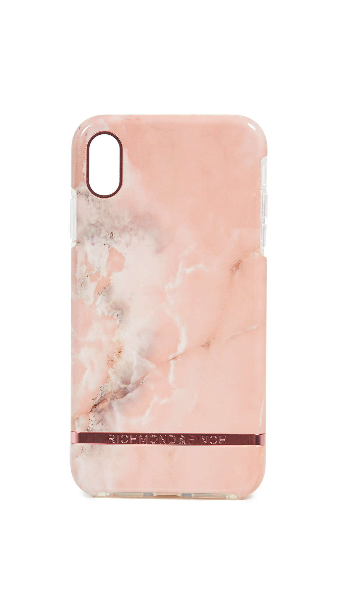 RICHMOND & FINCH Pink Marble Iphone Xs Max Case in Pink/Rose Gold
