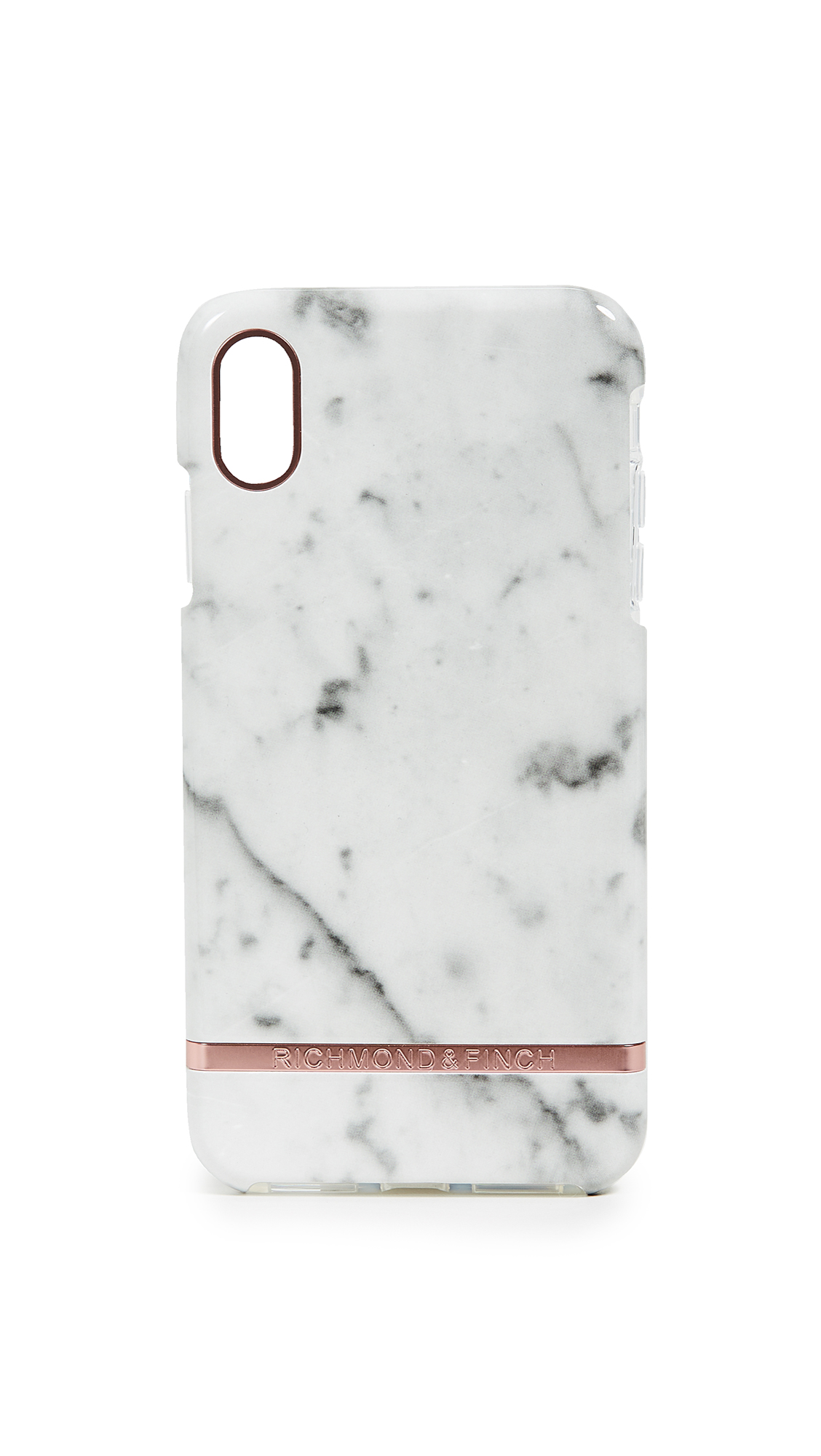 RICHMOND & FINCH White Marble Iphone Xs Max Case in White Marble/Rose Gold