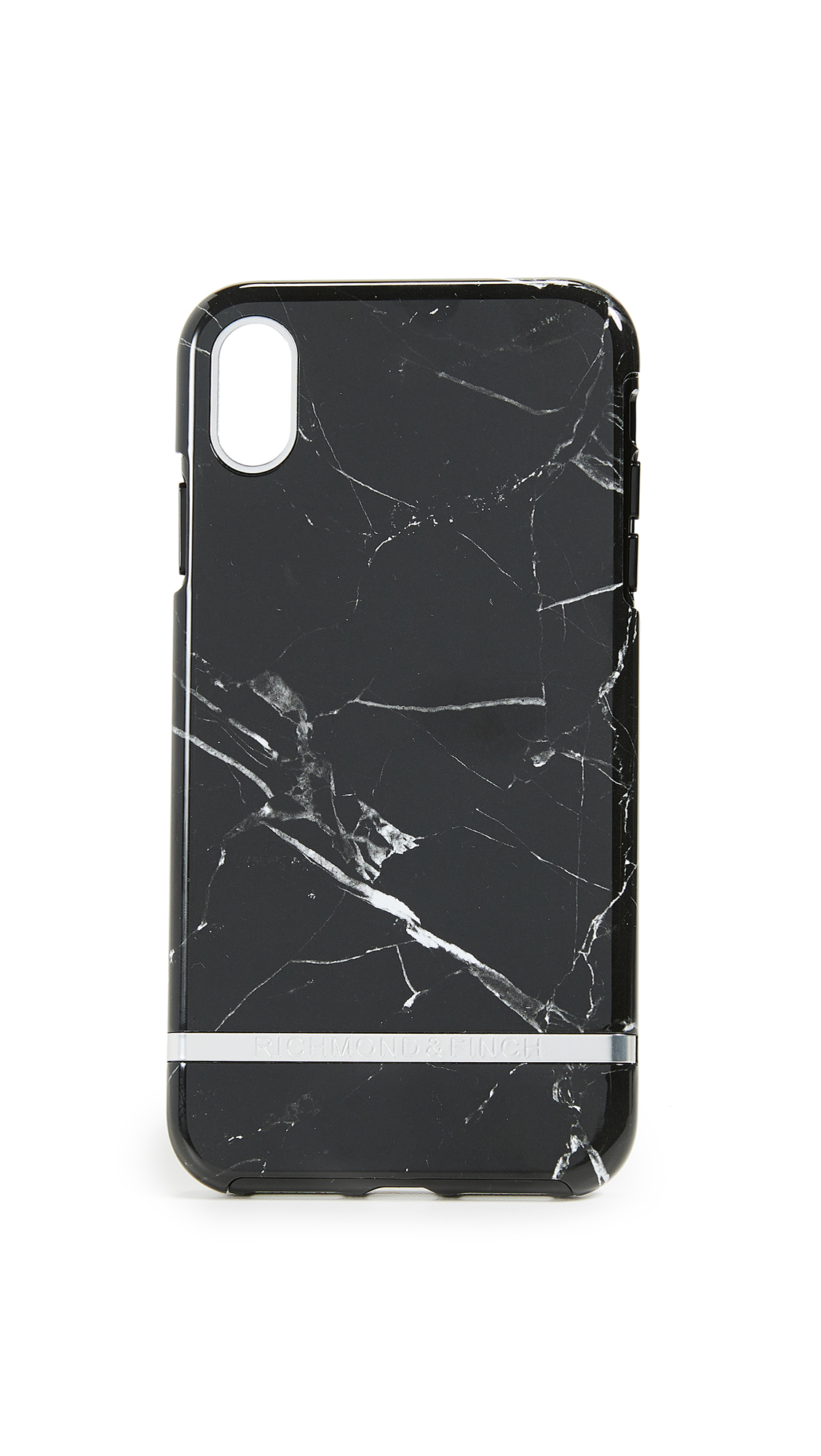 RICHMOND & FINCH Black Marble Iphone Xs Max Case in Black Marble/Silver