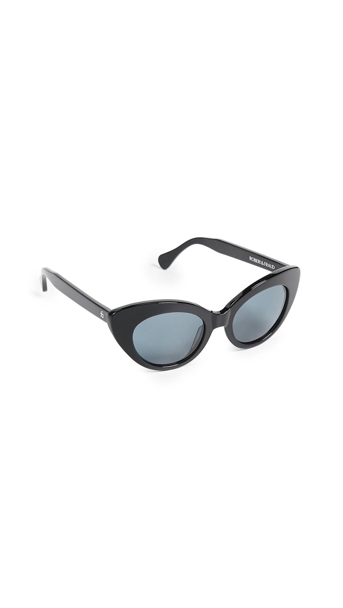 ROBERI & FRAUD Agnes Sunglasses in Black/Black