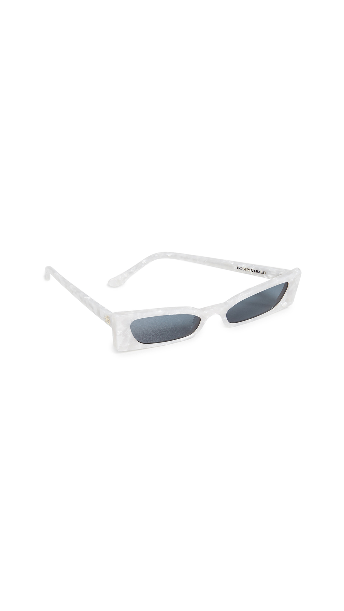 ROBERI & FRAUD Geraldine Sunglasses in White Pearl