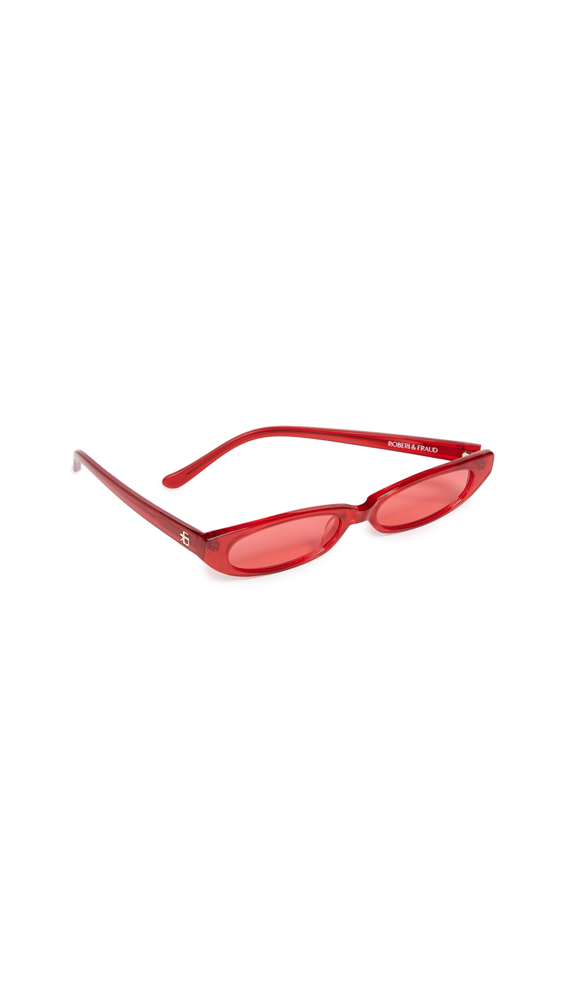 ROBERI & FRAUD Frances Sunglasses in Red