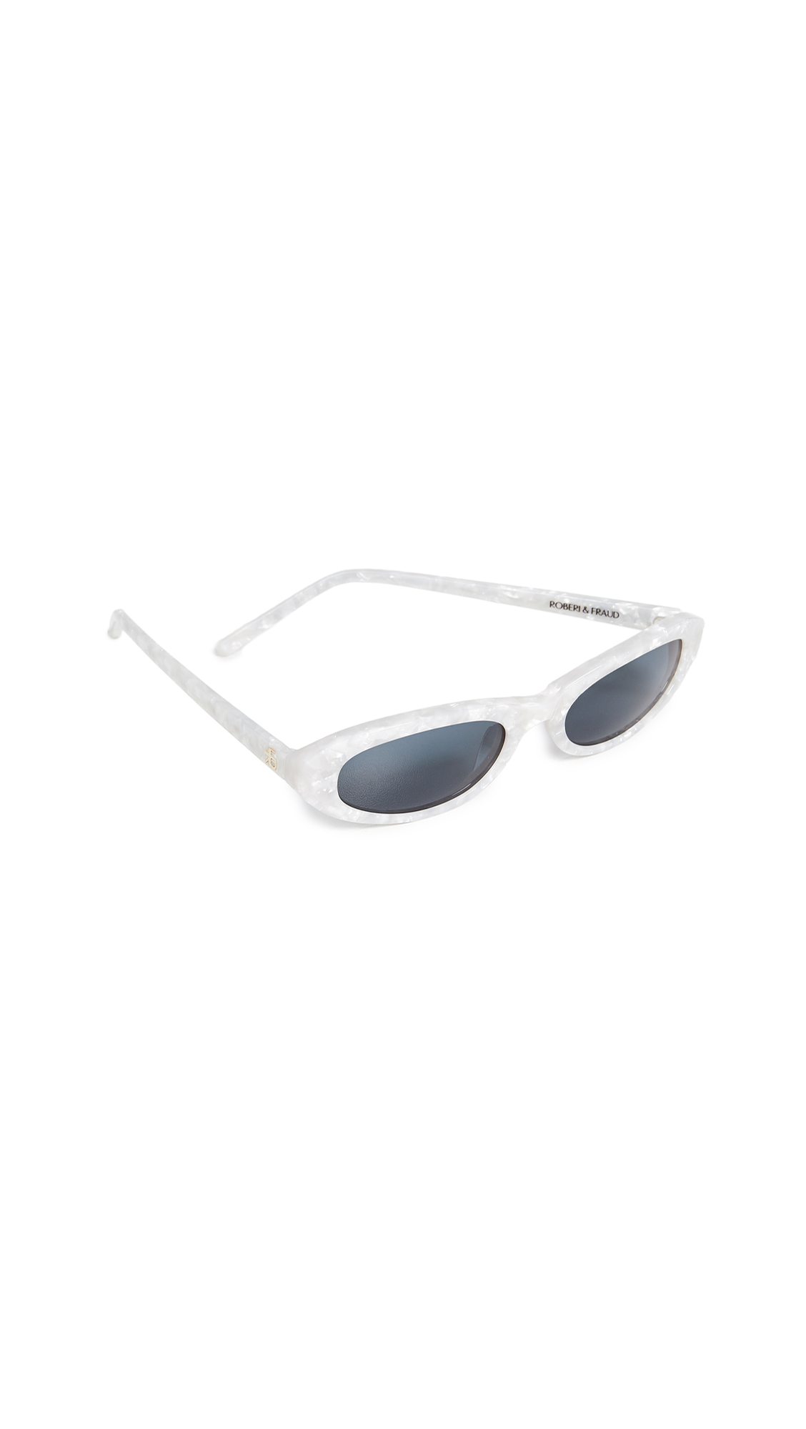 ROBERI & FRAUD Baby Betty Sunglasses in White Pearl