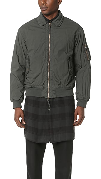 Robert Geller Garment Dyed Bomber Jacket