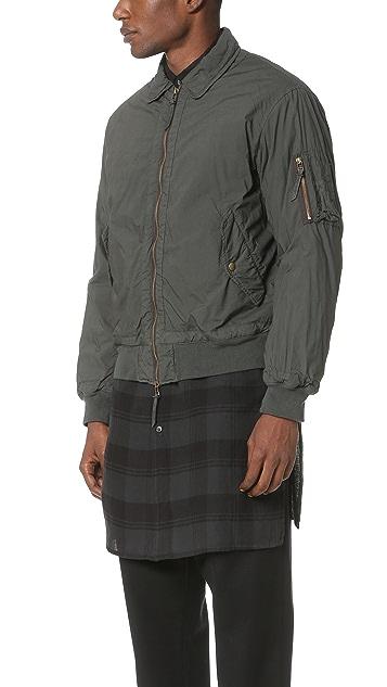 Robert Geller Garment Dyed Bomber Jacket