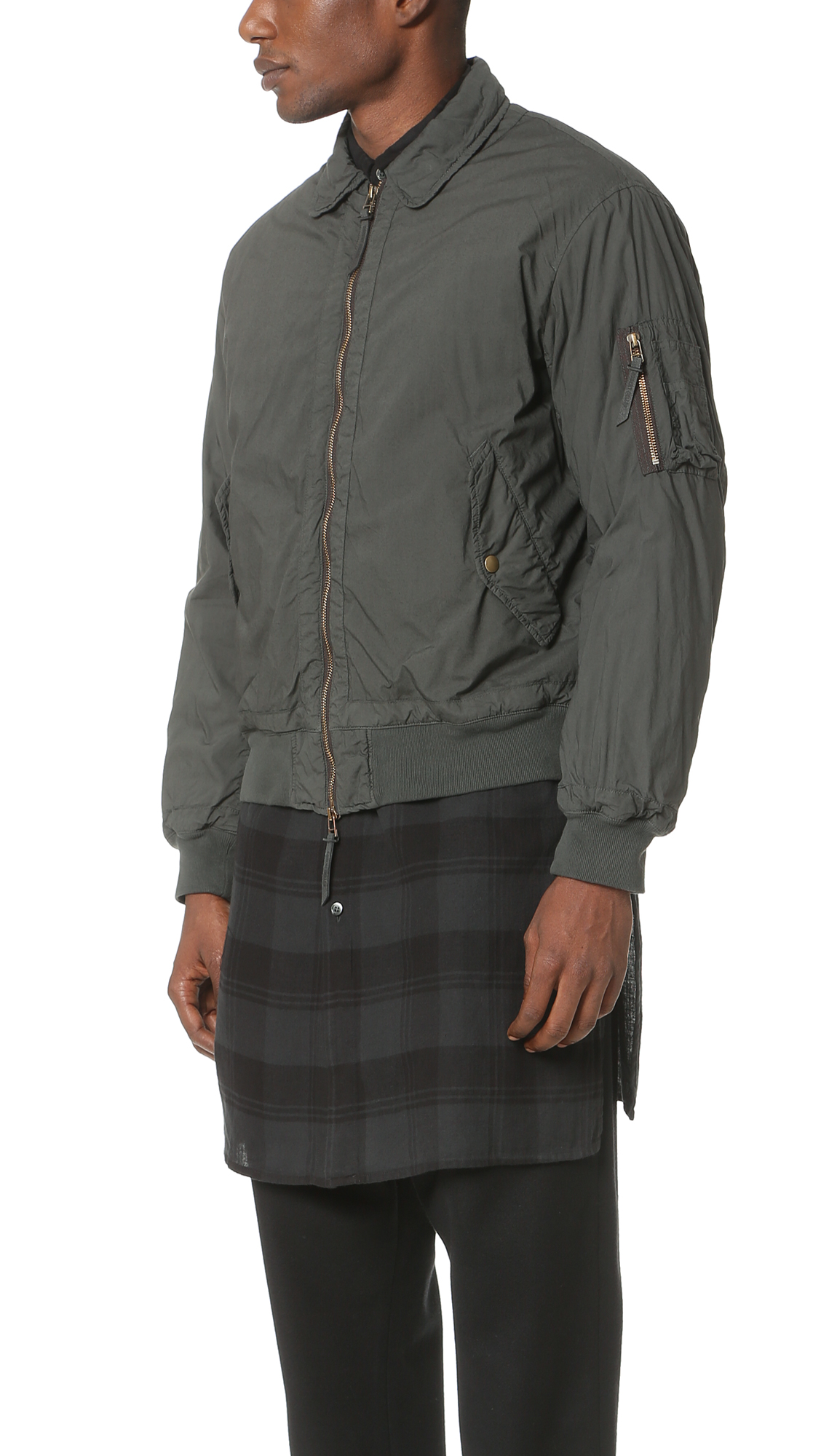 e257e1030 Robert Geller Garment Dyed Bomber Jacket | EAST DANE