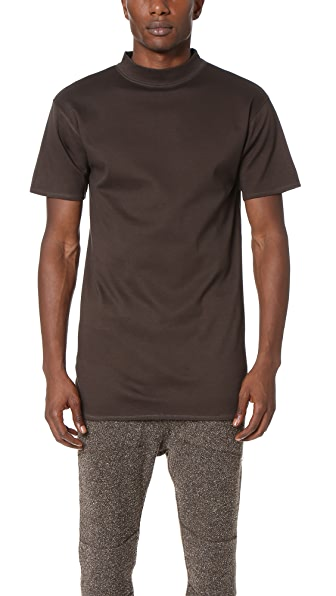 Robert Geller The Long Mock Neck Tee