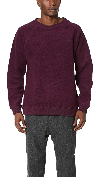 Robert Geller The Textured Crew Neck Sweatshirt