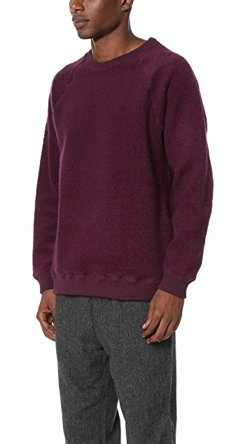 Robert Geller The Textured Crew Neck Sweatshirt