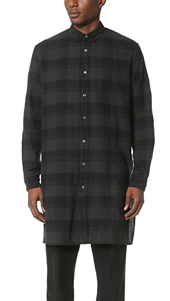 Robert Geller The Long Plaid Shirt