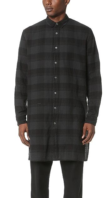 Robert Geller The Long Plaid Shirt