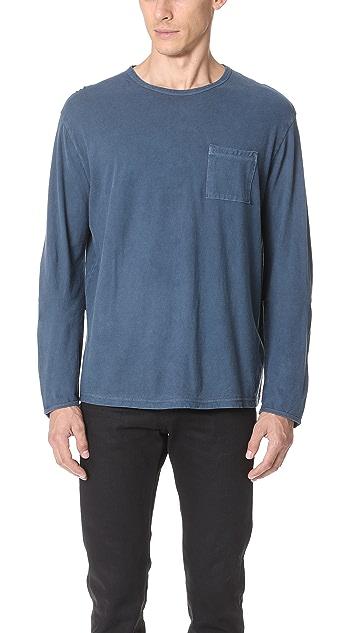 Robert Geller The Pigment Dyed Long Sleeve Shirt