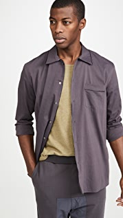 Robert Geller Piped Button Down Night Shirt