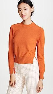 Rosetta Getty Укороченный пуловер с разрезом