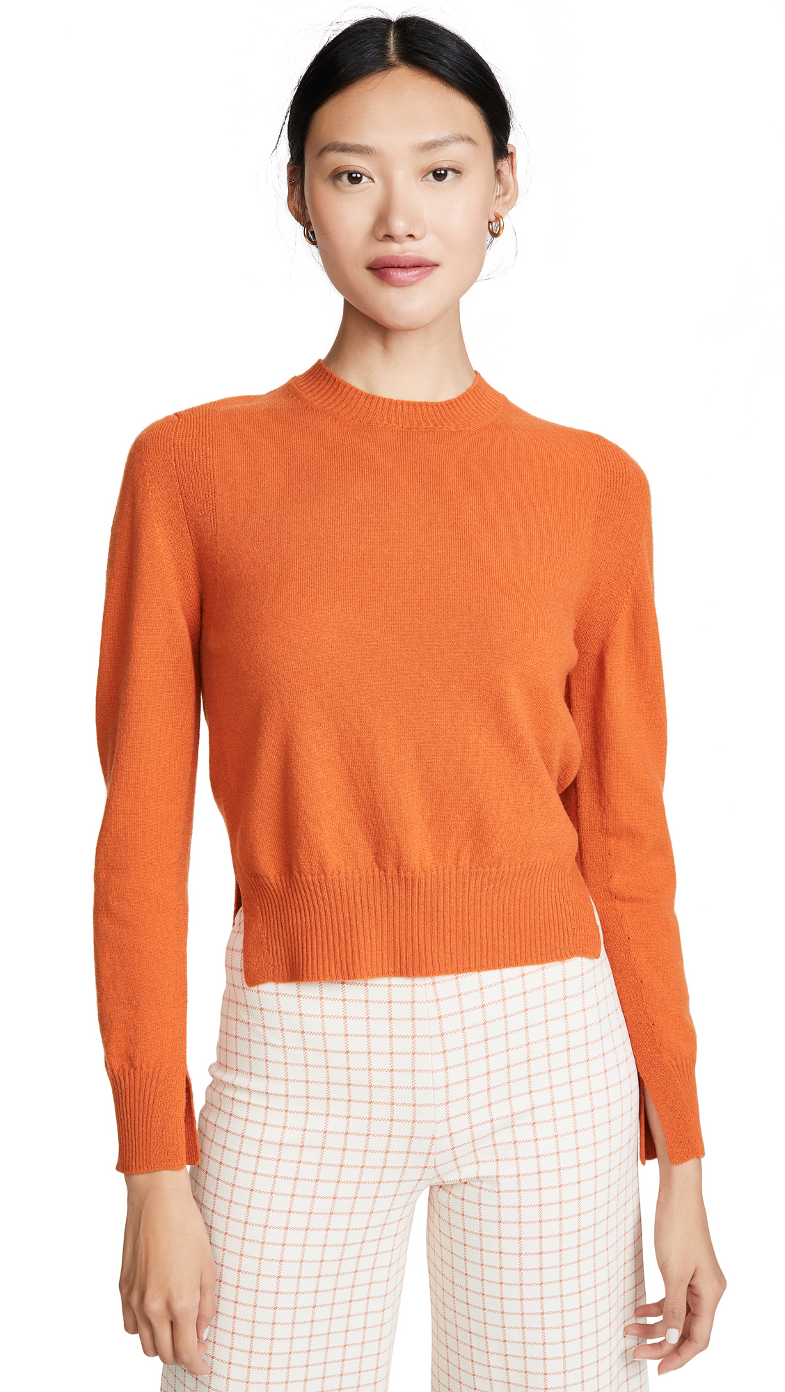 Buy Rosetta Getty online - photo of Rosetta Getty Cropped Slit Pullover Sweater