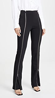 Rosetta Getty Zipper Godet Pants