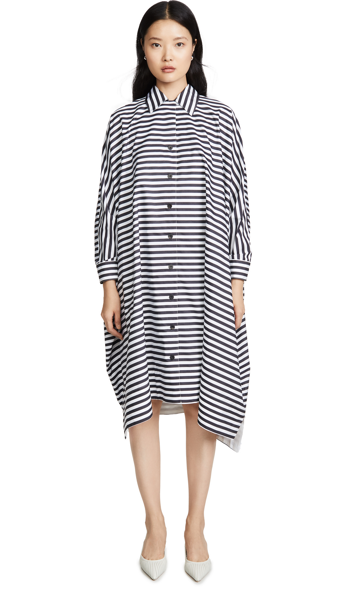 Rosetta Getty Oversized Caftan Shirtdress - 50% Off Sale