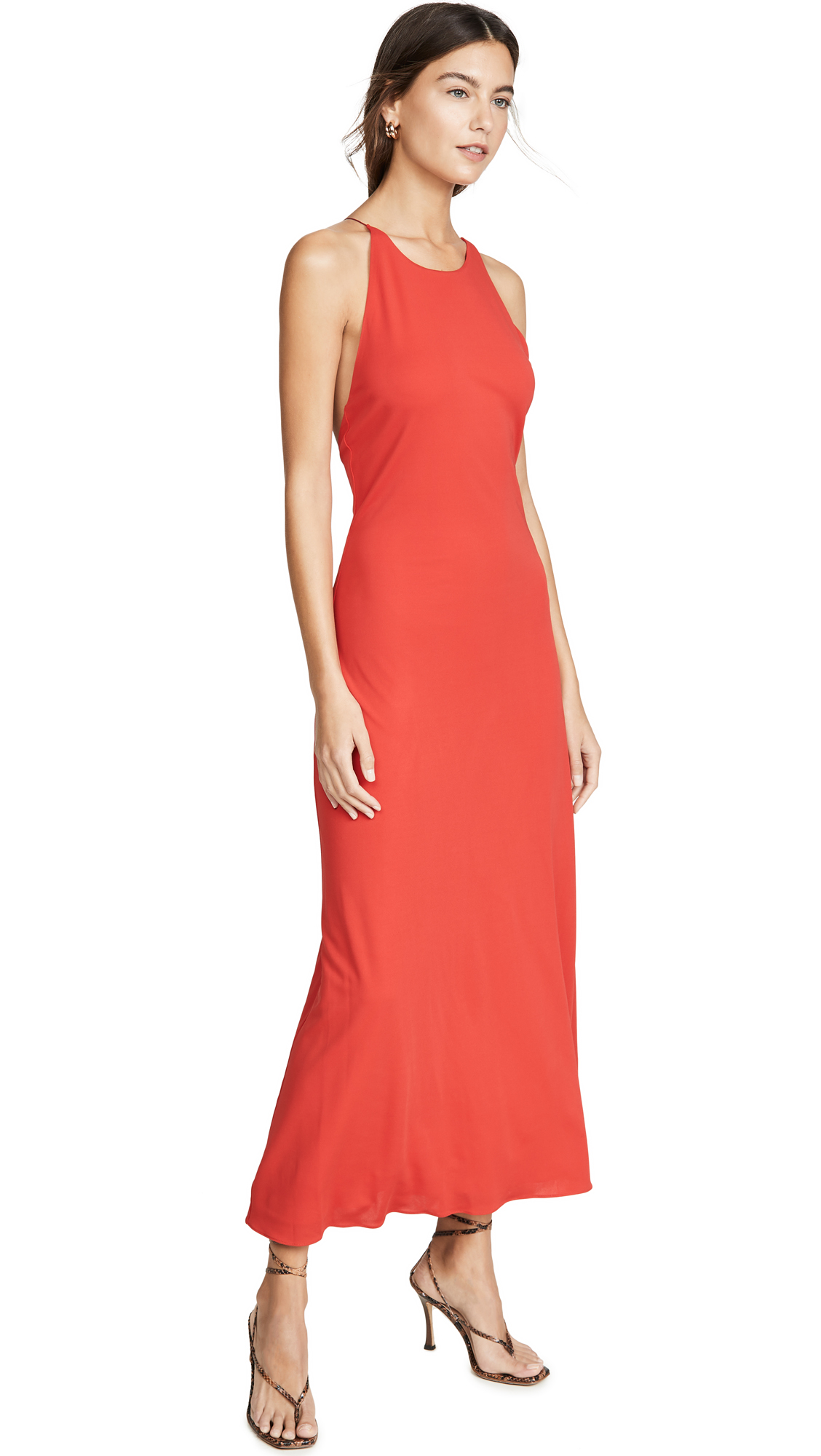 Rosetta Getty Cross Back Bias Slip Dress - 50% Off Sale