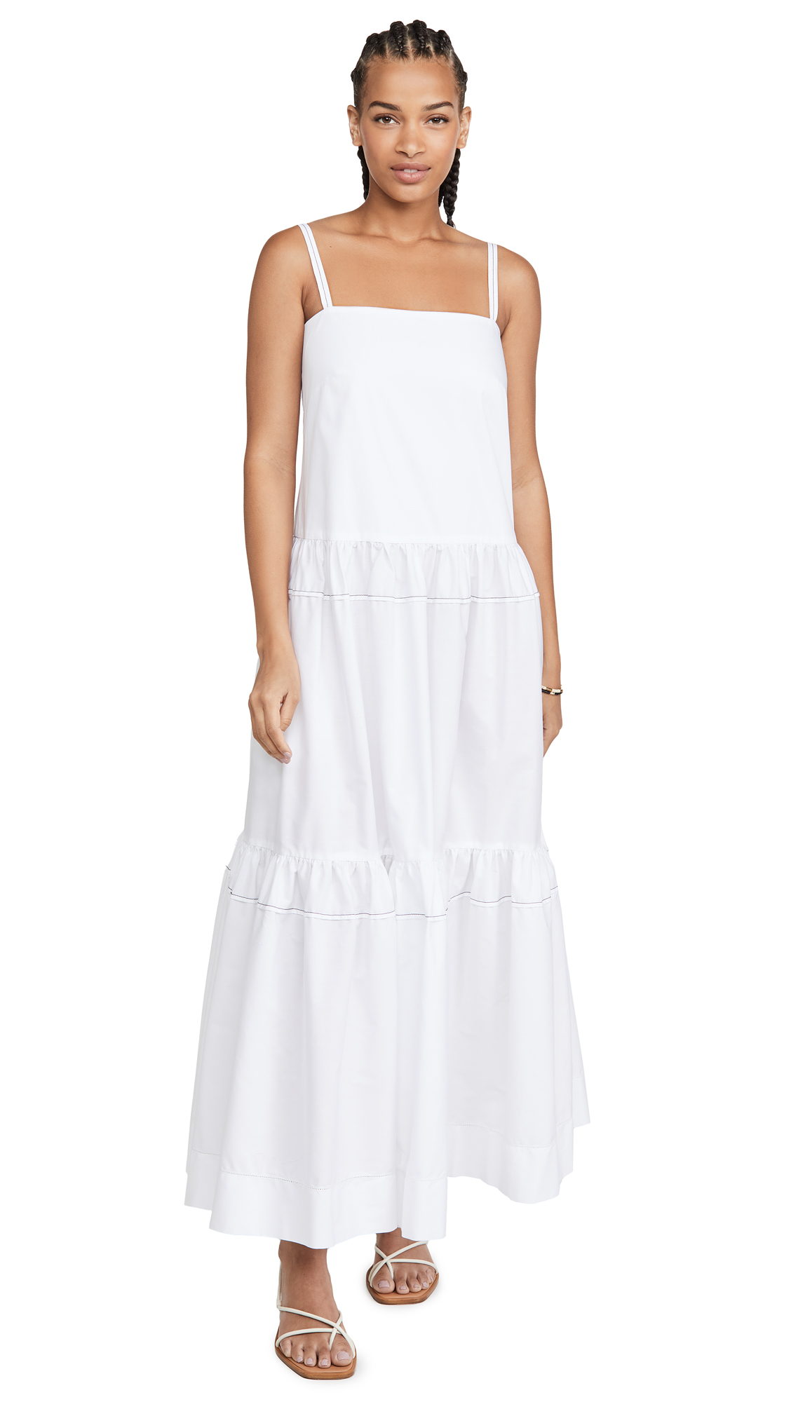 Rosetta Getty Tiered Ruffle Dress - 50% Off Sale
