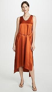 Rosetta Getty Платье с запахом без рукавов Apron