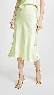 Rosetta Getty 斜纹中长半身裙