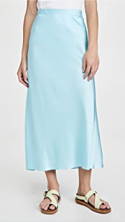 Rosetta Getty 斜裁中长半身裙