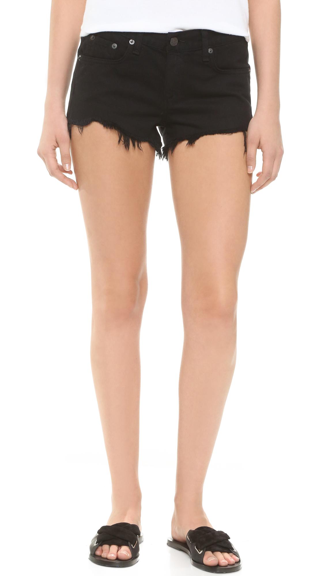 rag bonejean female rag bonejean cutoff shorts black freeport